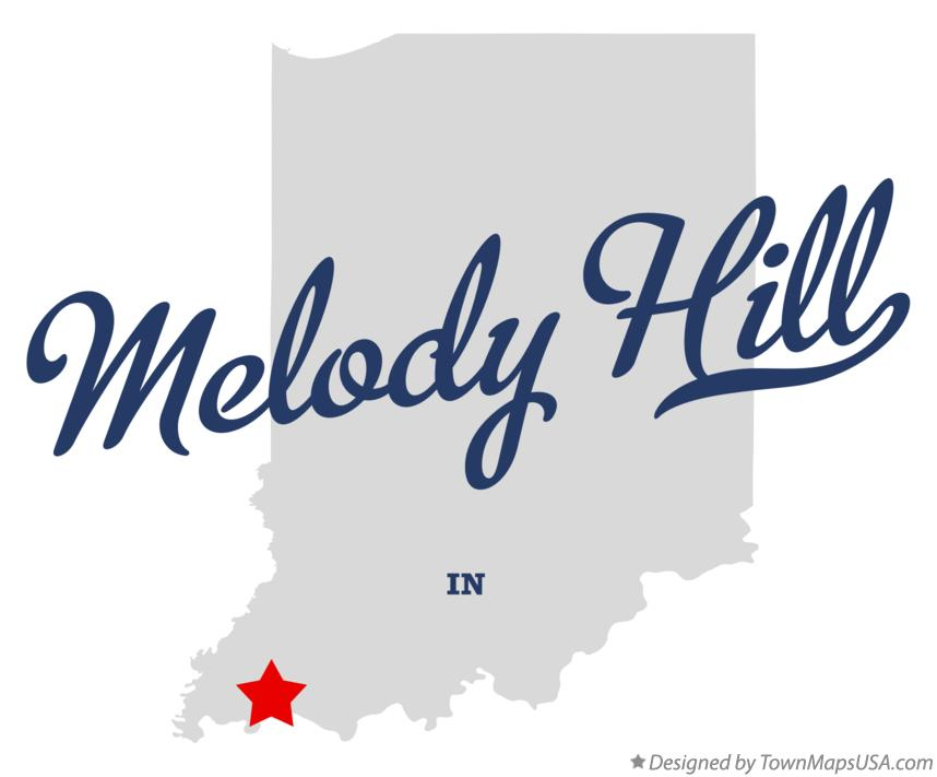 Map of Melody Hill Indiana IN
