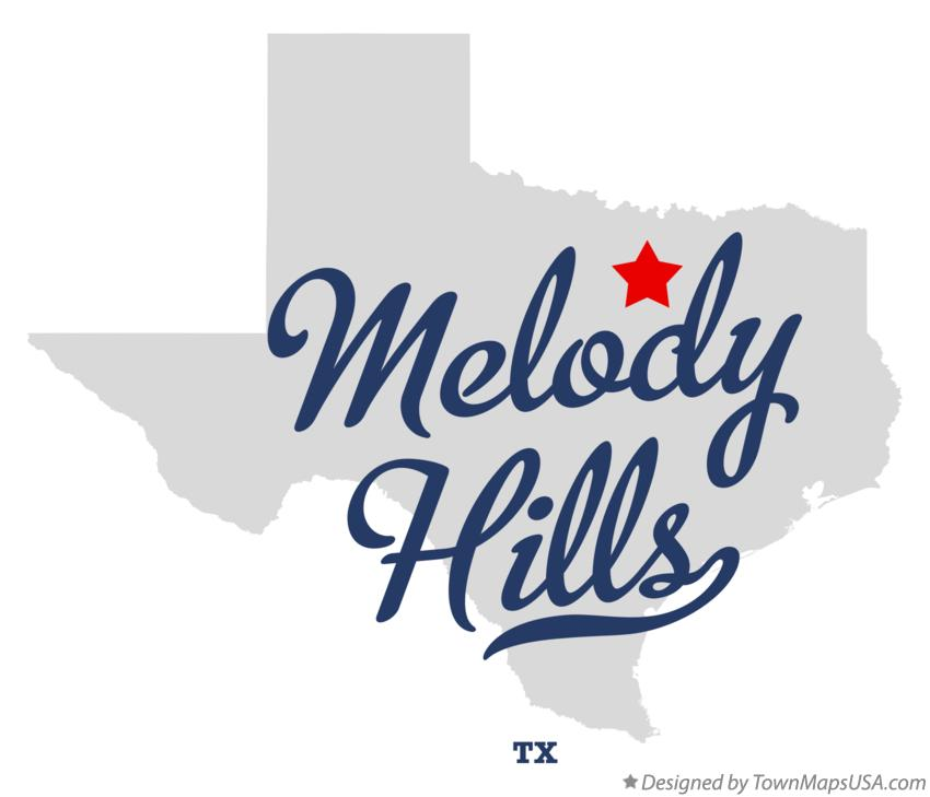 Map of Melody Hills Texas TX