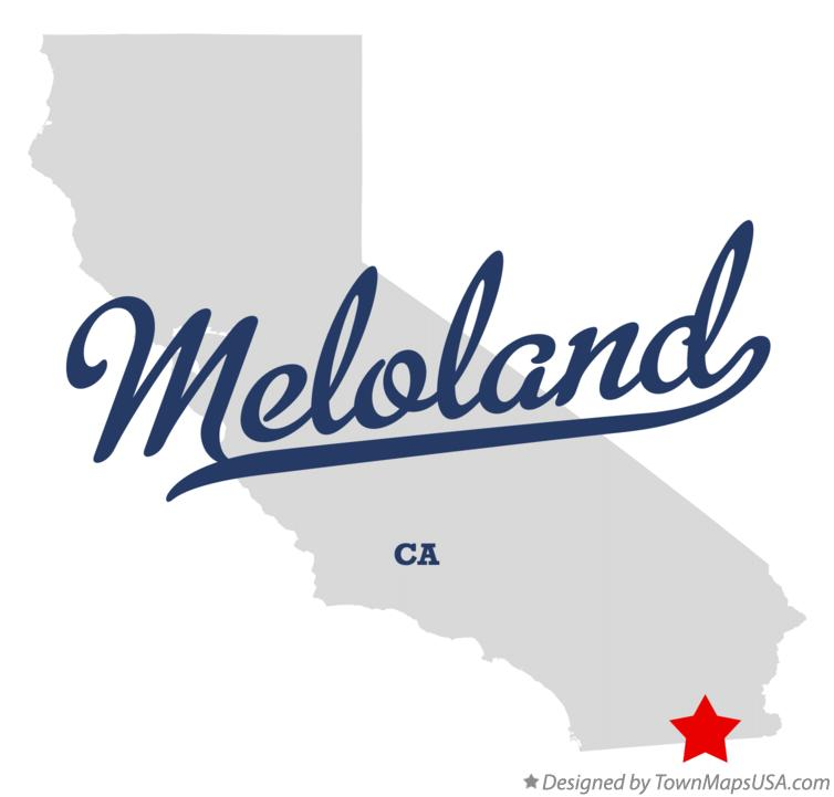 Map of Meloland California CA