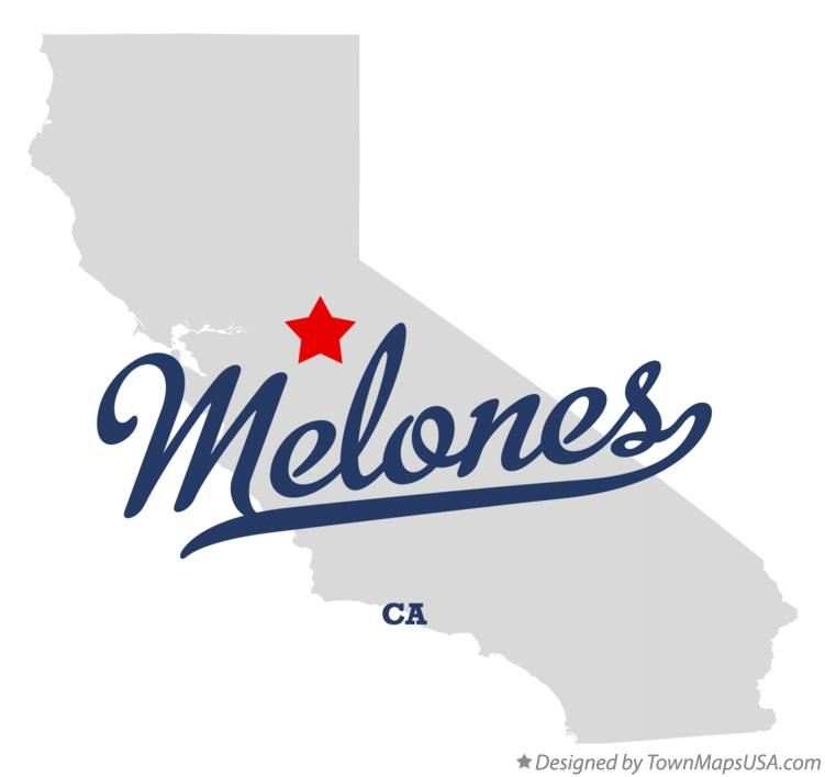 Map of Melones California CA