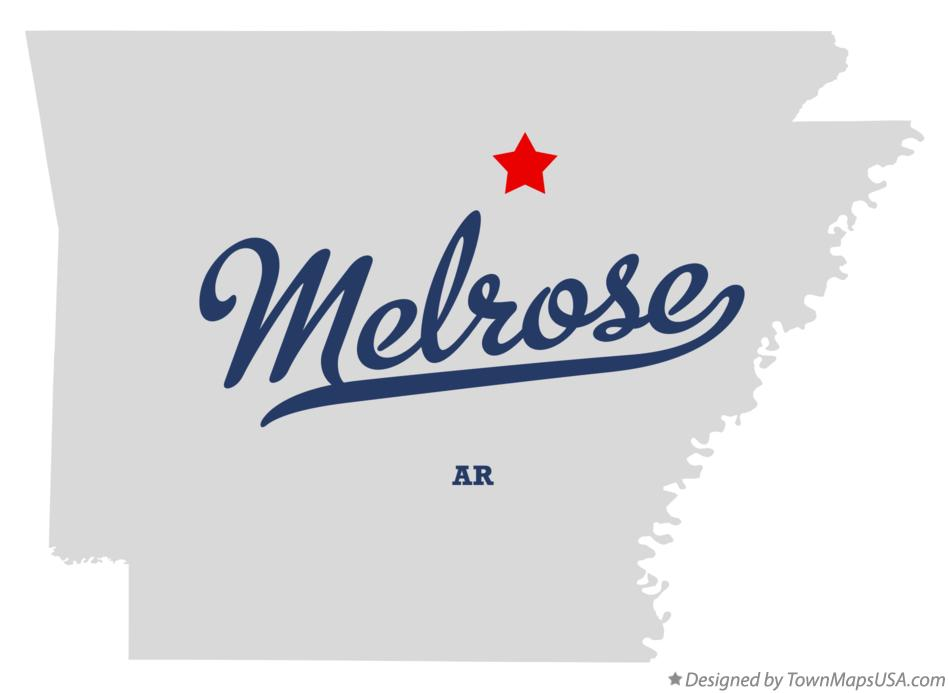 Map of Melrose Arkansas AR