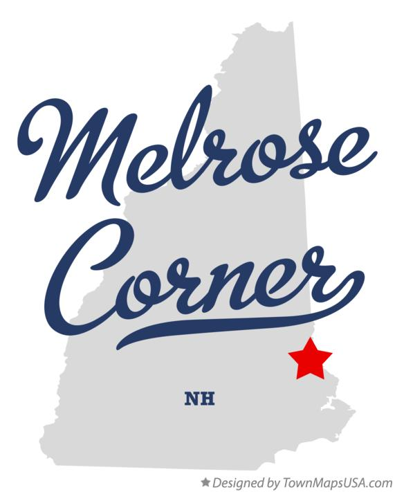 Map of Melrose Corner New Hampshire NH