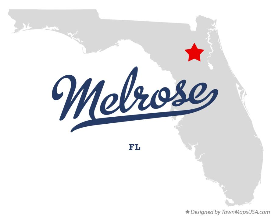 Map of Melrose Florida FL