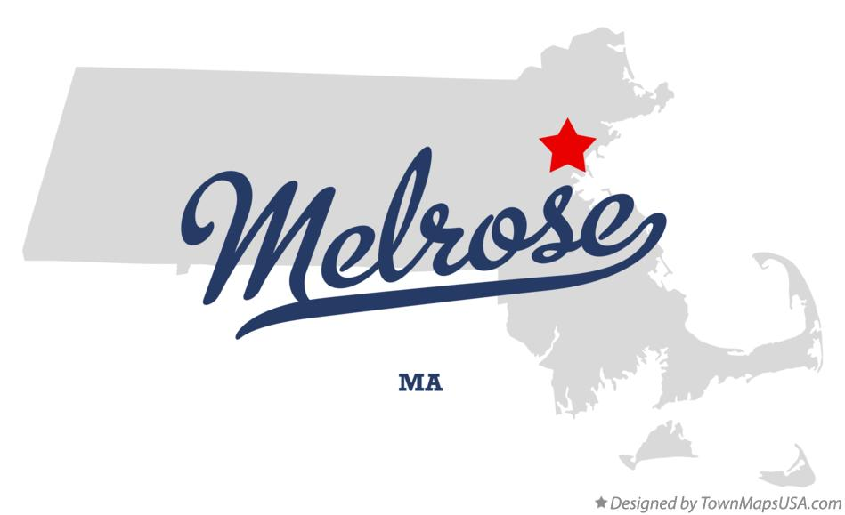 Map of Melrose Massachusetts MA