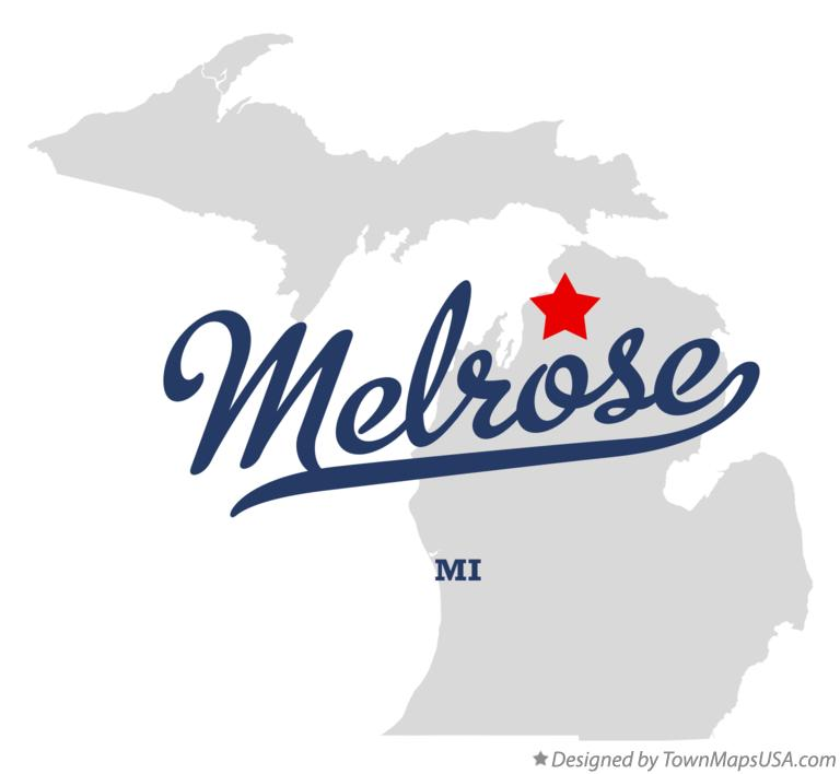 Map of Melrose Michigan MI