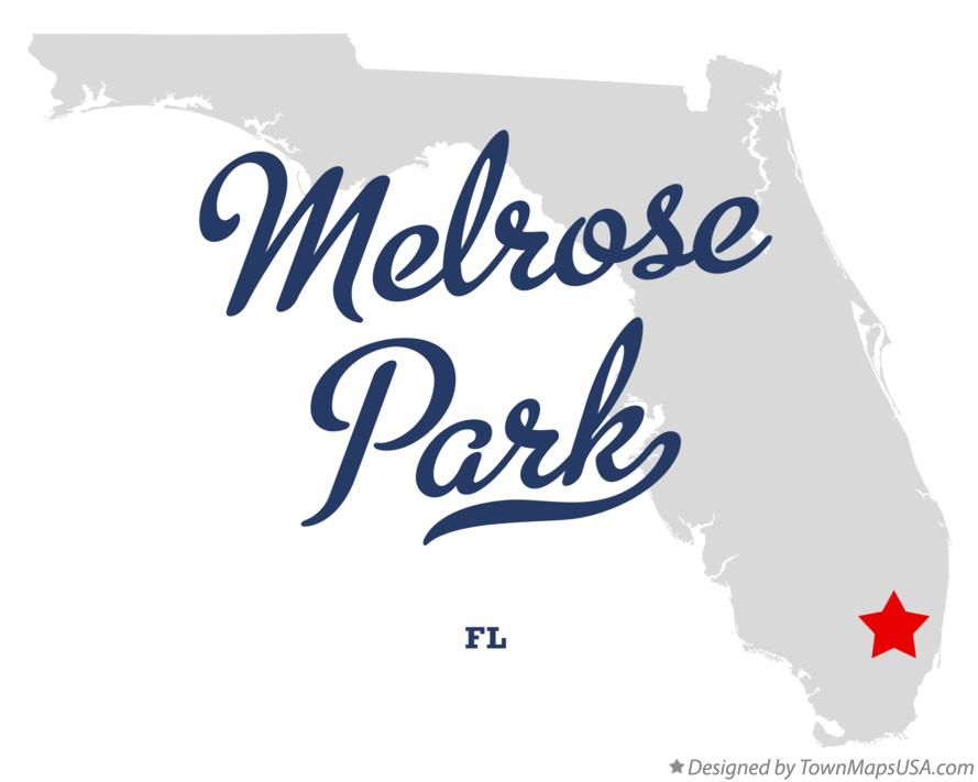 Map of Melrose Park Florida FL