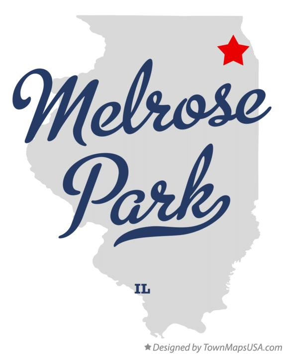 Map of Melrose Park Illinois IL
