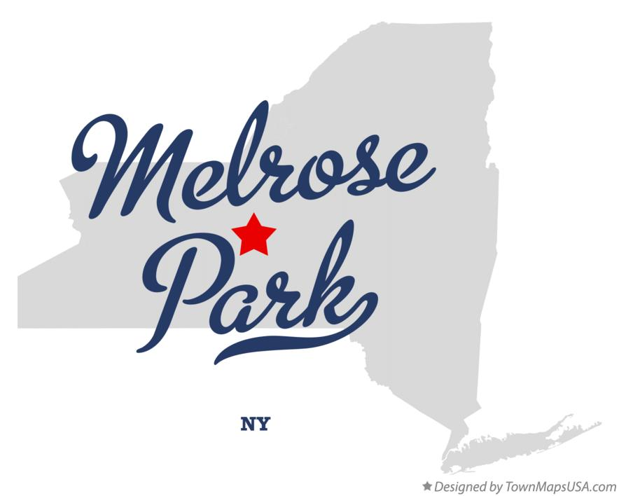 Map of Melrose Park New York NY