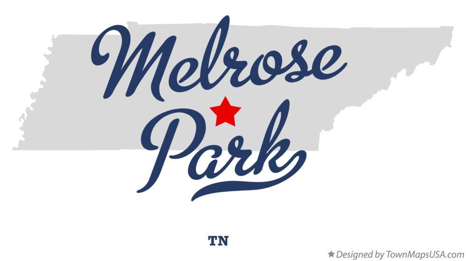 Map of Melrose Park Tennessee TN