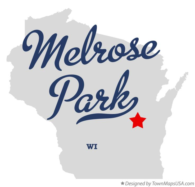 Map of Melrose Park Wisconsin WI