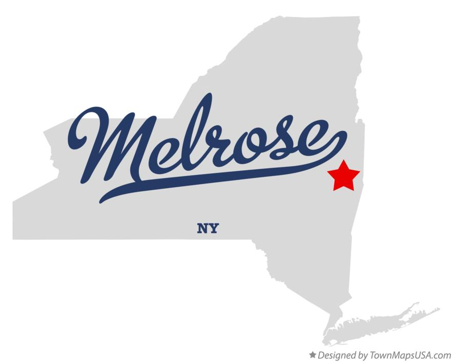 Map of Melrose New York NY