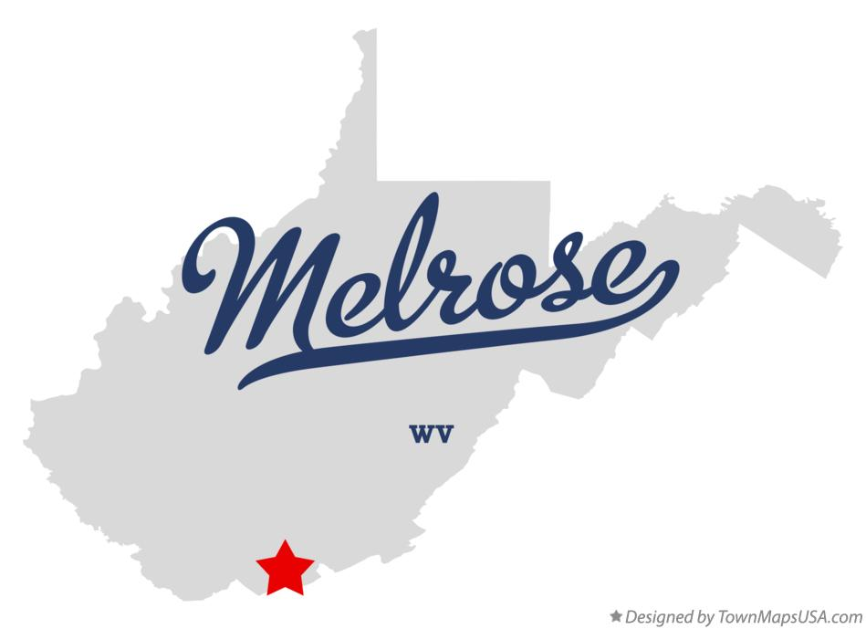 Map of Melrose West Virginia WV