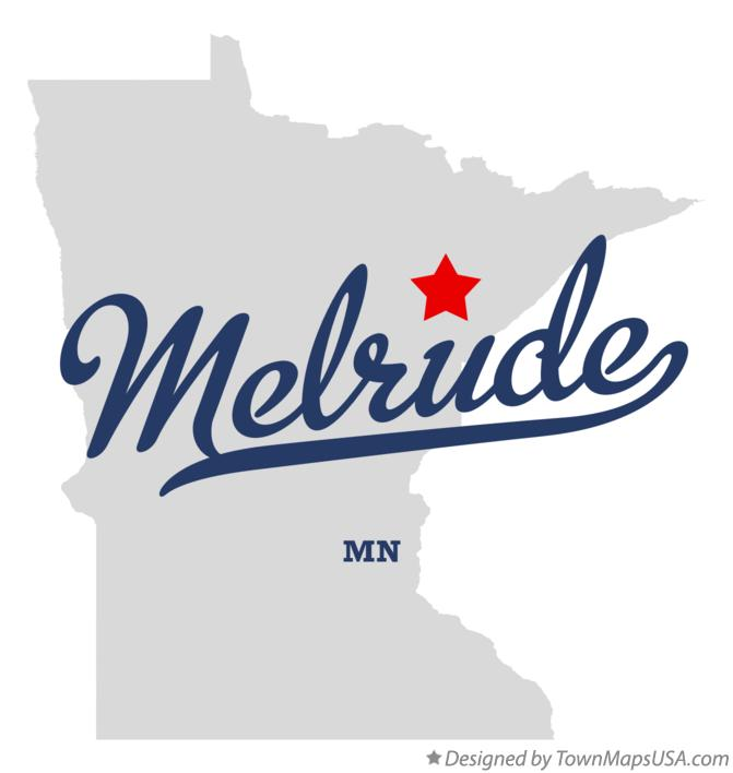 Map of Melrude Minnesota MN