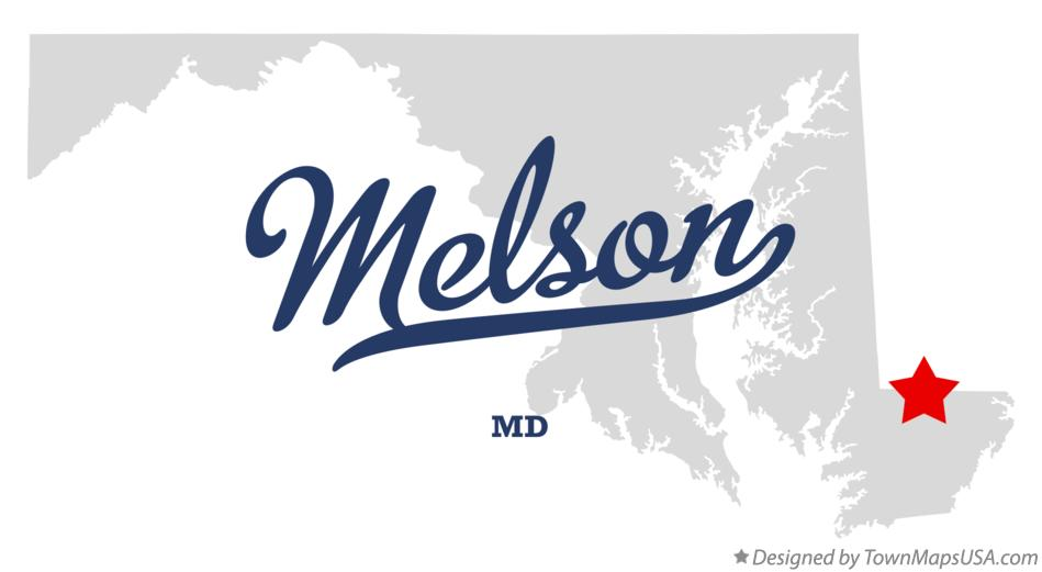 Map of Melson Maryland MD
