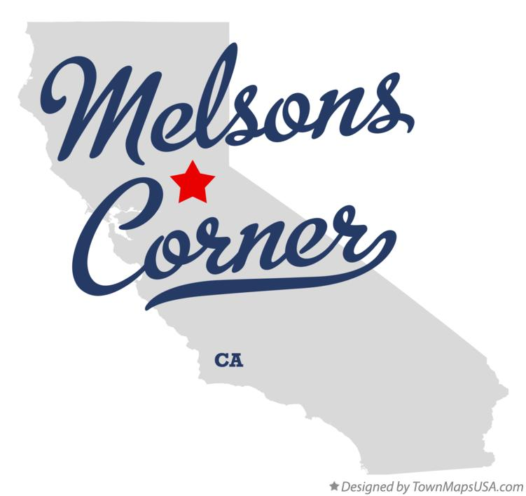 Map of Melsons Corner California CA