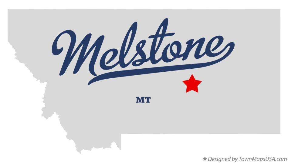 Map of Melstone Montana MT