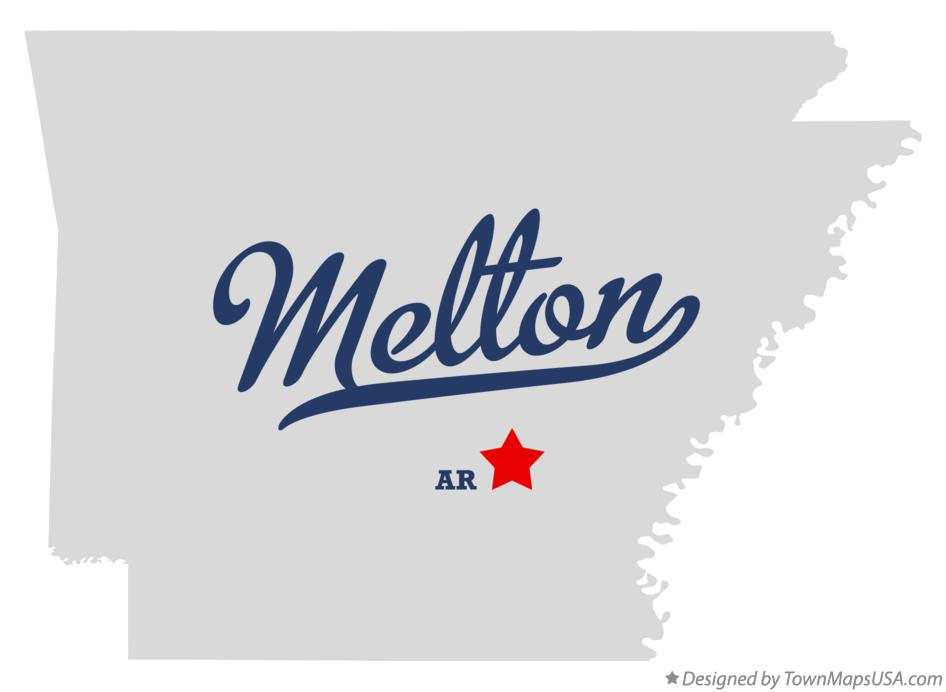 Map of Melton Arkansas AR
