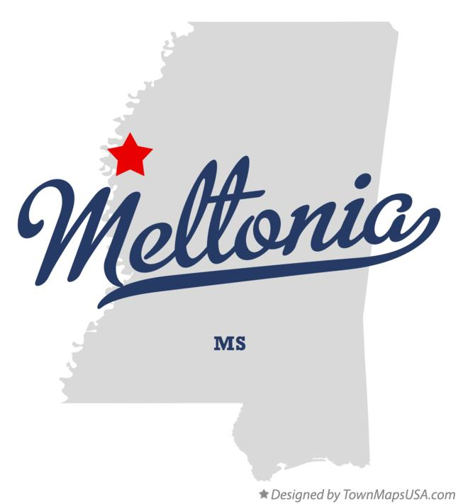 Map of Meltonia Mississippi MS