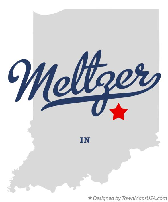 Map of Meltzer Indiana IN