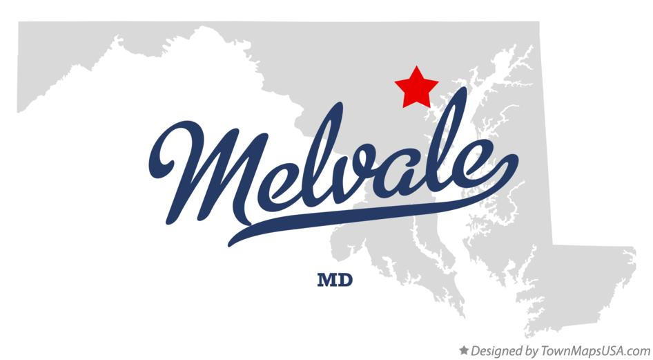 Map of Melvale Maryland MD