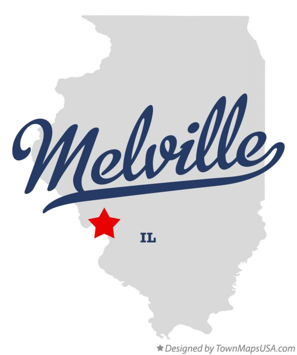 Map of Melville Illinois IL