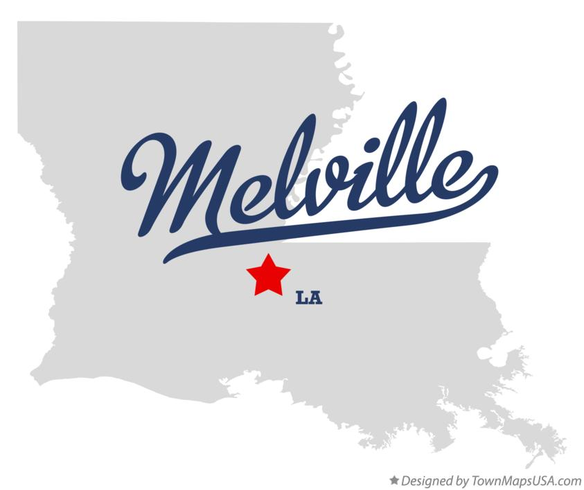 Map of Melville Louisiana LA