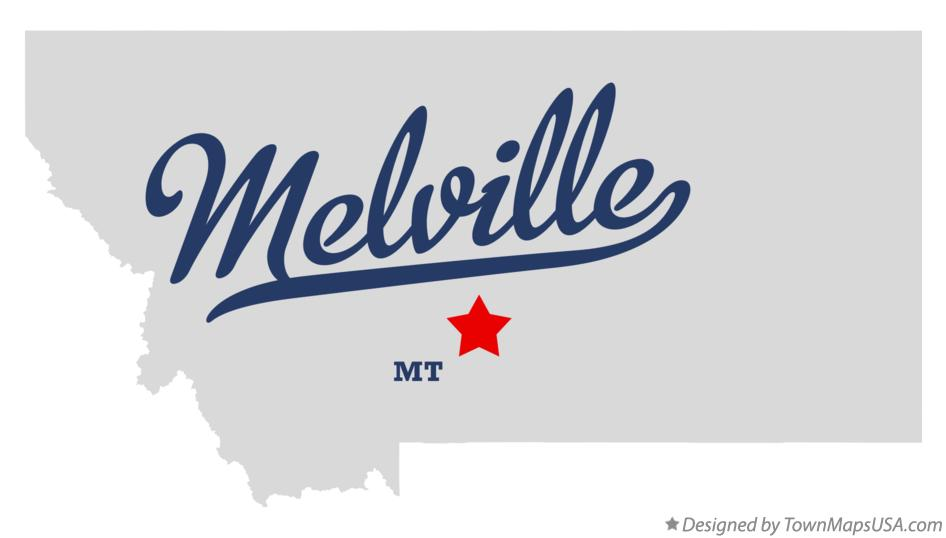 Map of Melville Montana MT