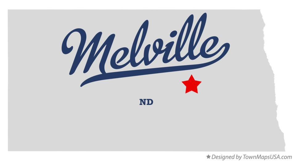 Map of Melville North Dakota ND