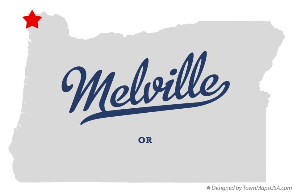 Map of Melville Oregon OR