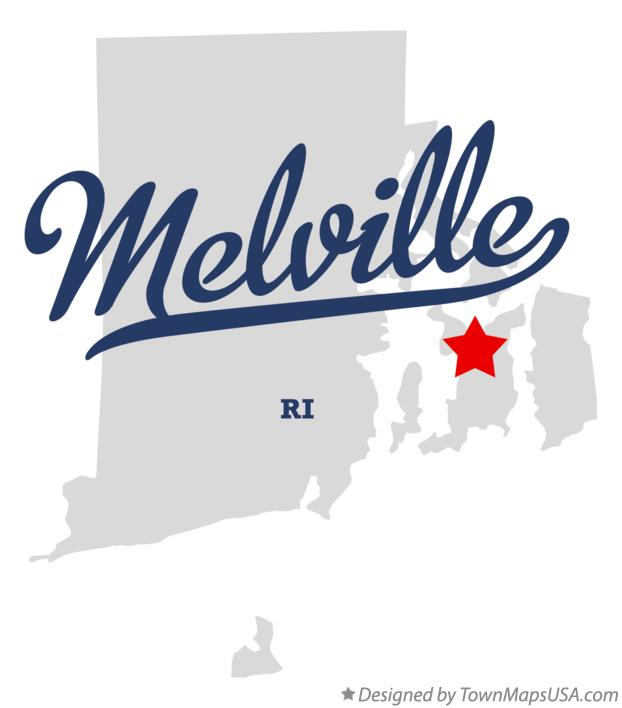 Map of Melville Rhode Island RI