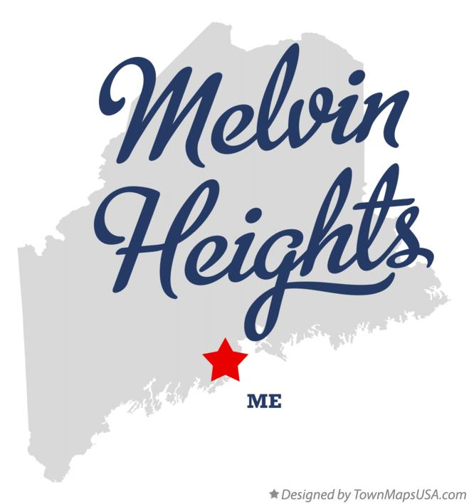Map of Melvin Heights Maine ME