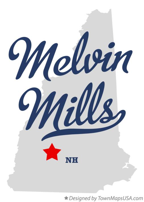 Map of Melvin Mills New Hampshire NH
