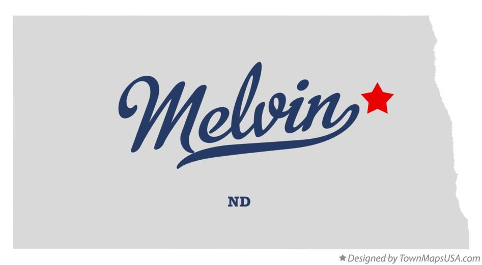 Map of Melvin North Dakota ND