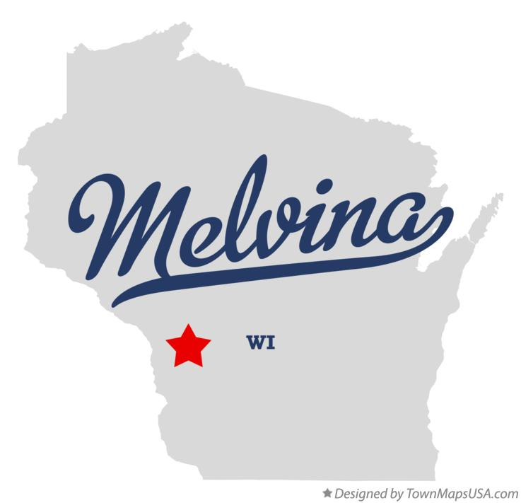 Map of Melvina Wisconsin WI