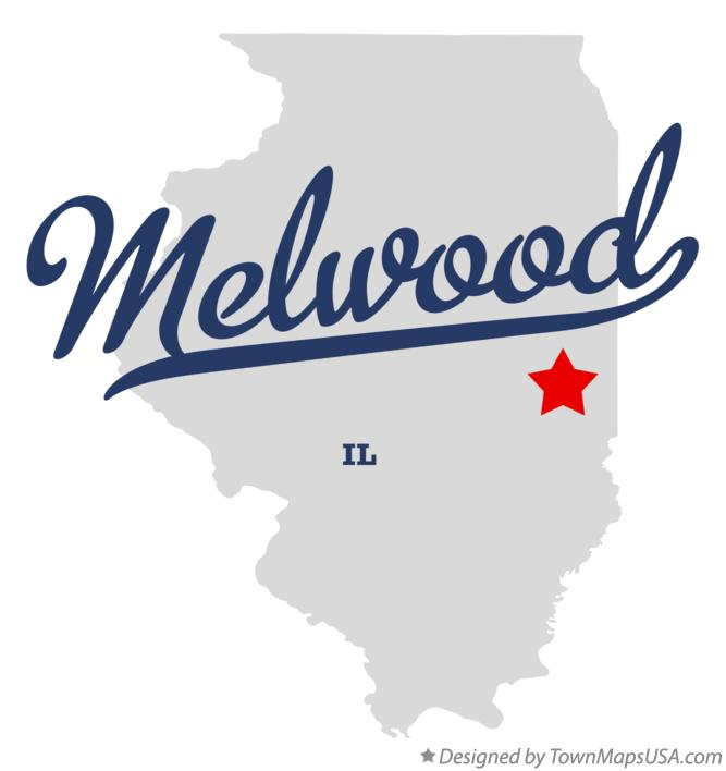 Map of Melwood Illinois IL
