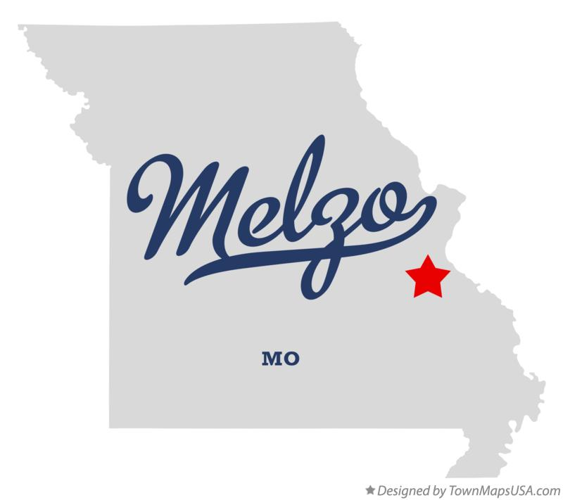 Map of Melzo Missouri MO