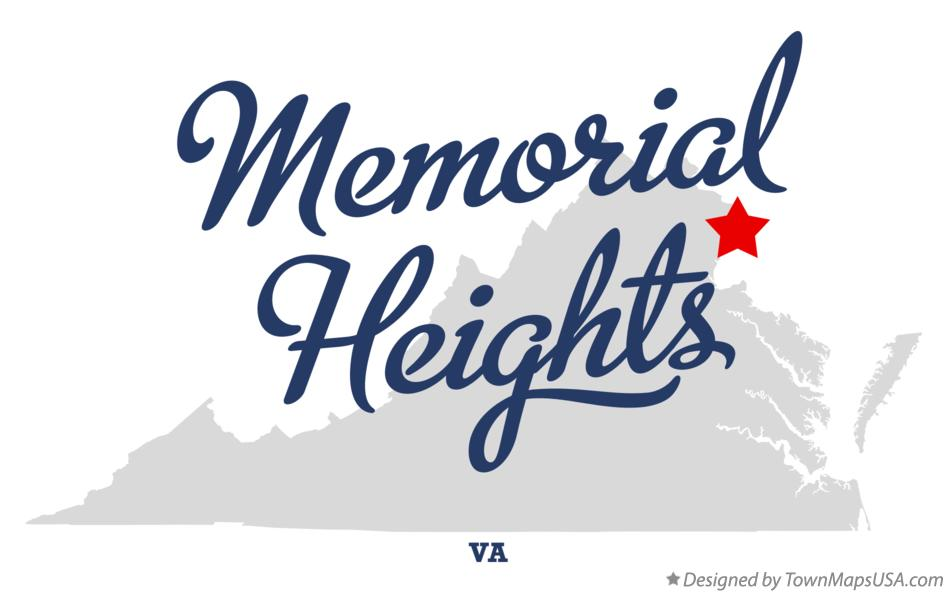 Map of Memorial Heights Virginia VA