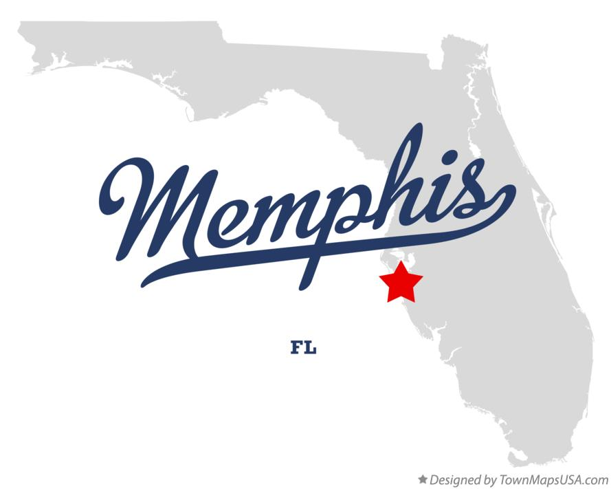 Map of Memphis Florida FL
