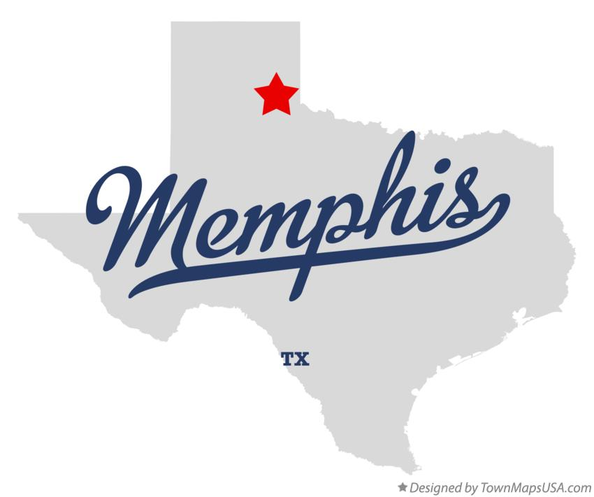 Map of Memphis Texas TX