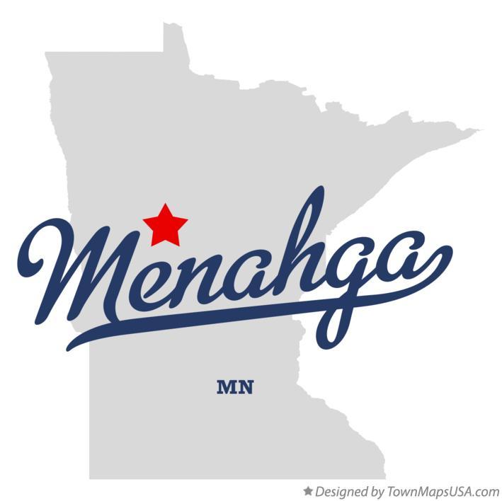 Map of Menahga, MN, Minnesota