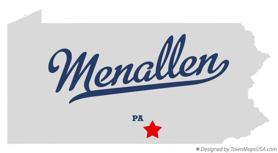 Map of Menallen Pennsylvania PA
