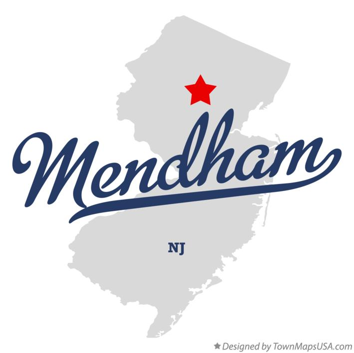 Map of Mendham New Jersey NJ