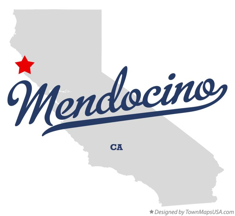 Map of Mendocino California CA