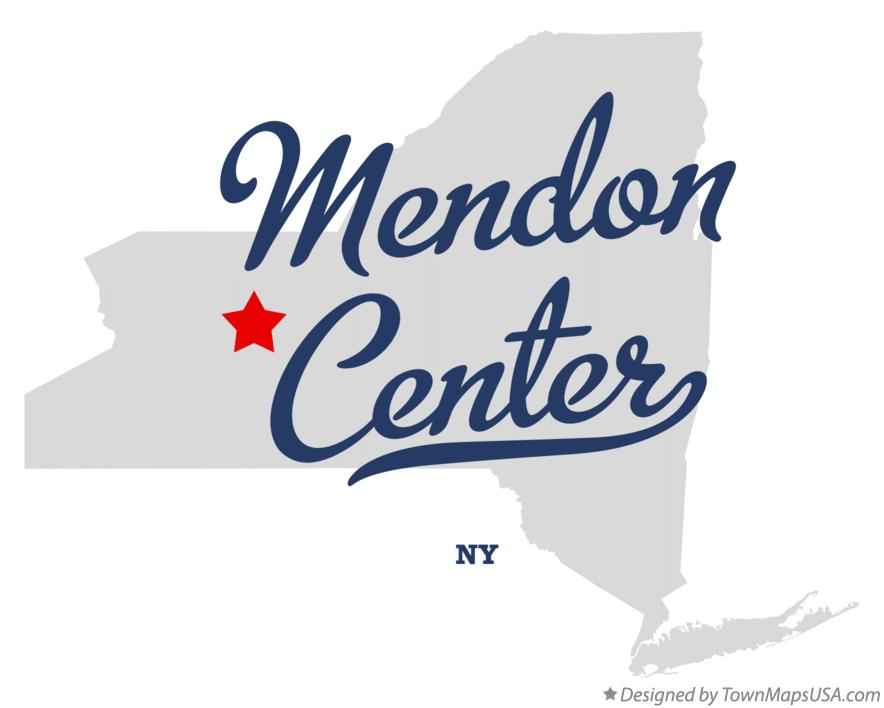 Map of Mendon Center New York NY