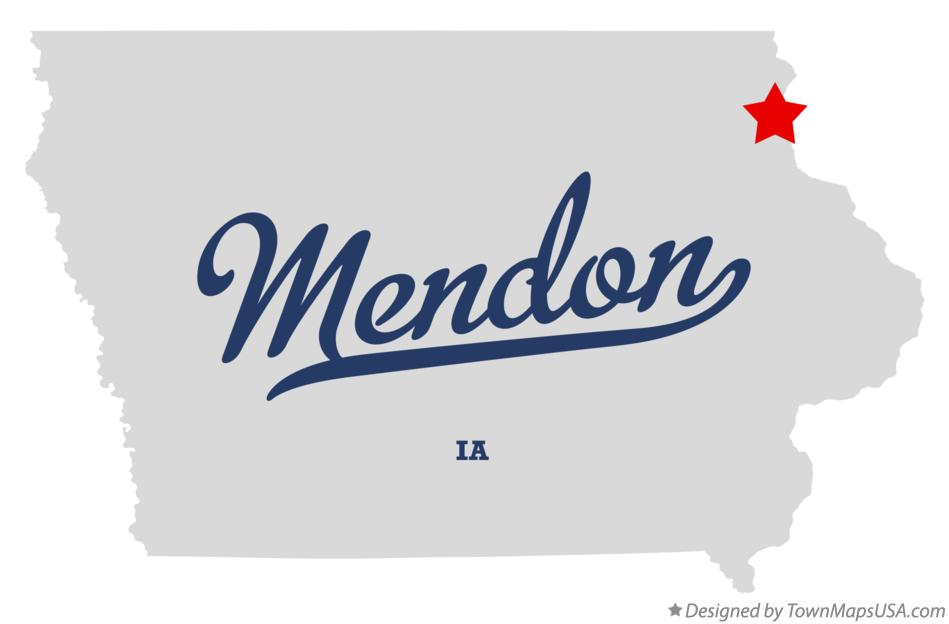 Map of Mendon Iowa IA