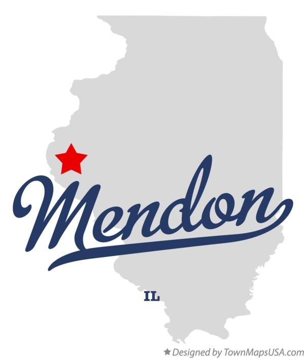 Map of Mendon Illinois IL