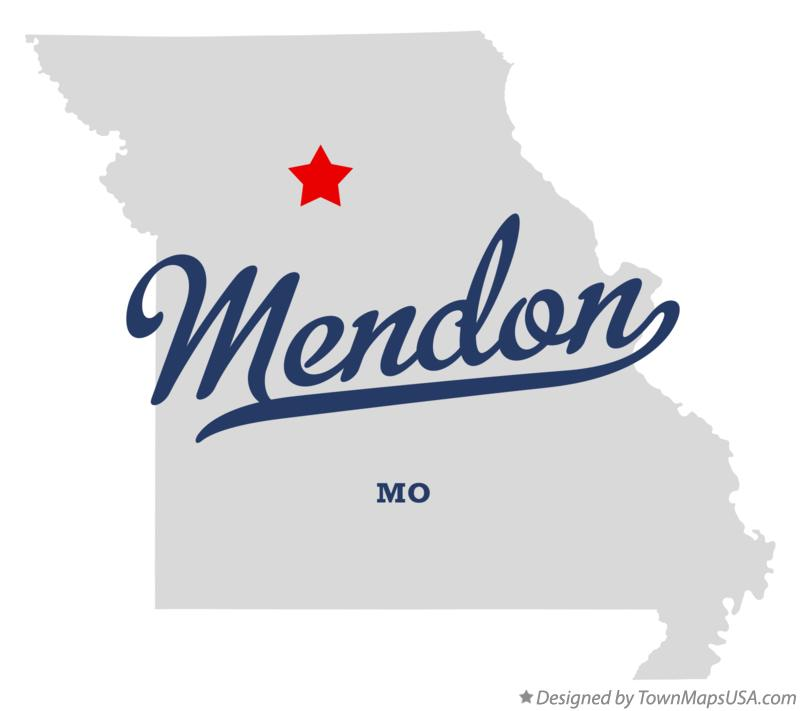 Map of Mendon Missouri MO
