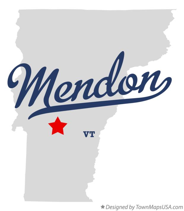 Map of Mendon Vermont VT