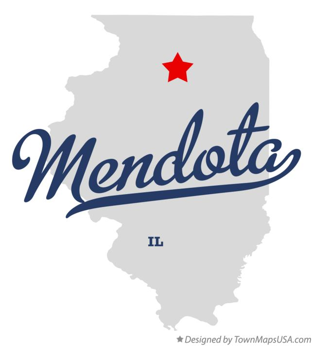 Map of Mendota Illinois IL