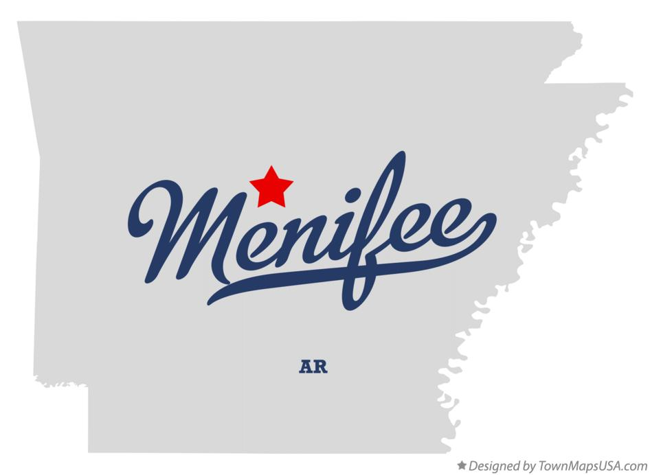 Map of Menifee Arkansas AR